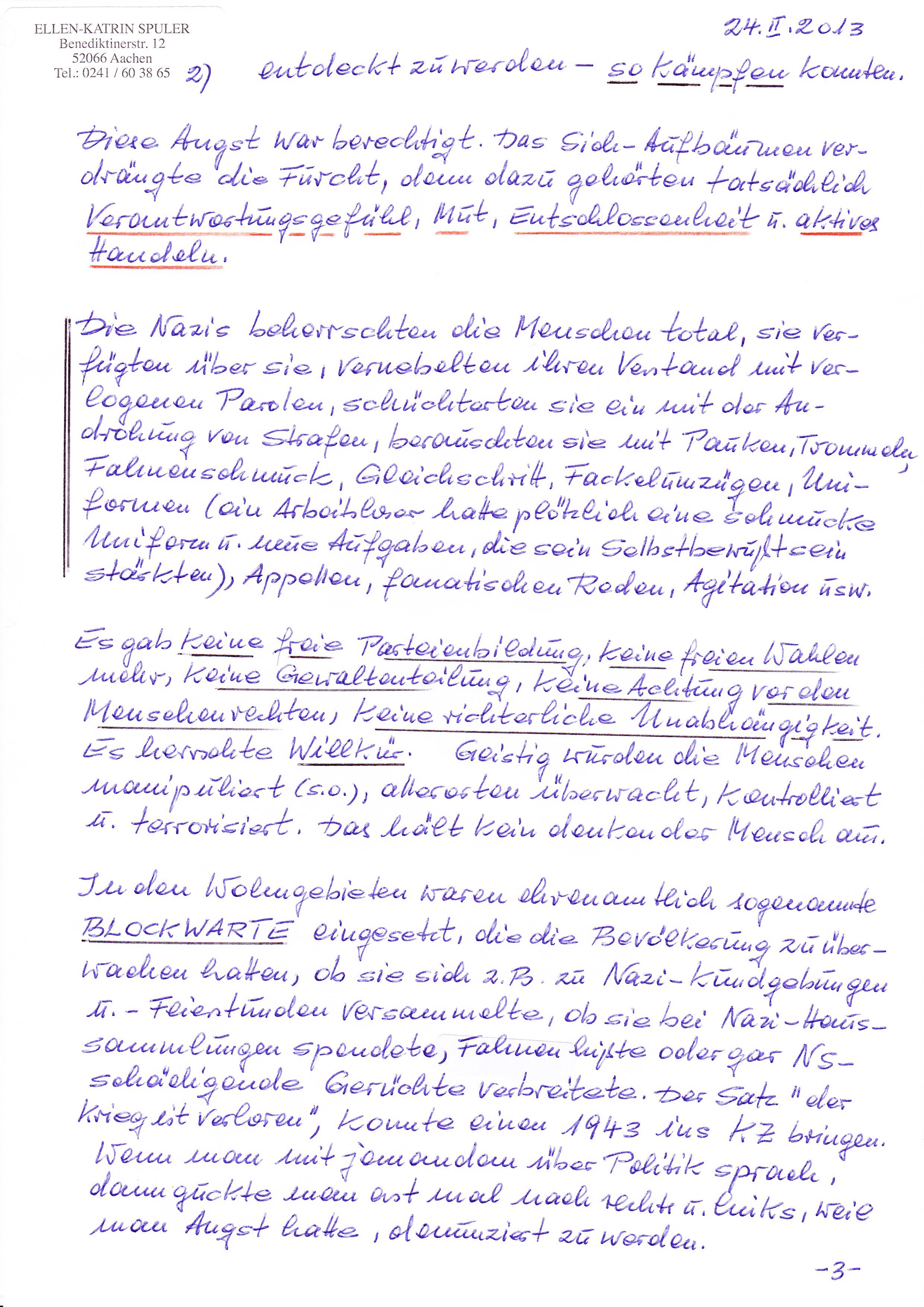 Persönliche Briefe Beispiele : Zivilcourage lohnt sich ein persönlicher brief