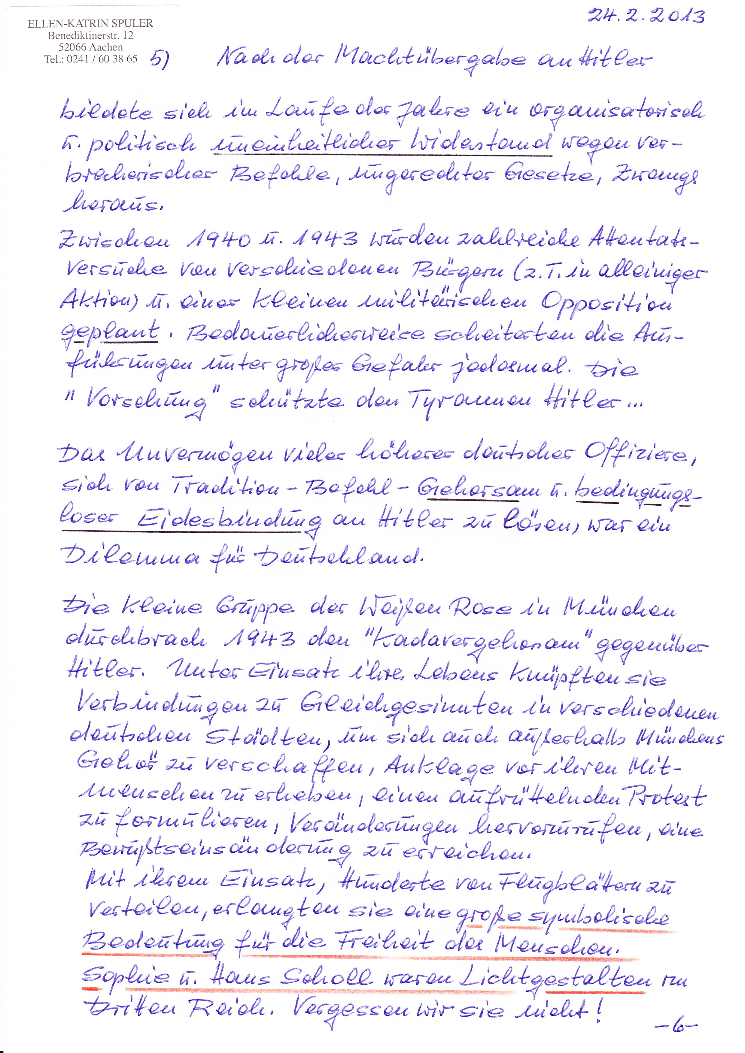 Briefe Schreiben Unterrichtsmaterial Klasse 5 : Zivilcourage lohnt sich ein persönlicher brief