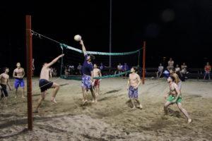 Kroatien 2016 09 Nächstliches Beachvolleyballspiel